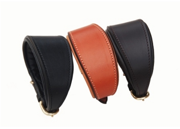 Tapered Leather Hound Collar