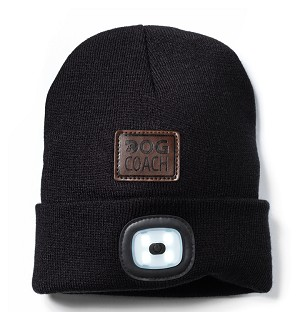 Dog Walker Knitted Hat with Light