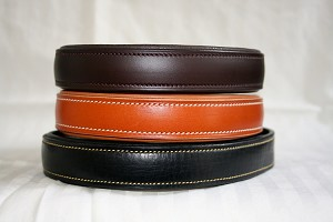 Padded handmade leather dog collar, Black, Brown and London Tan